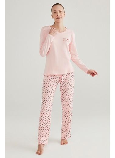 Penti Base Lips Pijama Takımı Pembe